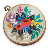 Cross Stitch Club — Color by Numbers with a Hoop  1.4.44