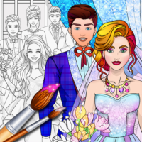 Wedding Coloring Dress Up – Games for Girls  1.4